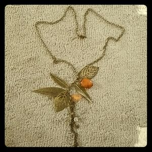 🌻5/20🌻20in brass necklace with feathers